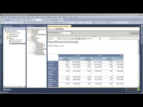Creating Reports with SSRS 2012 Tutorial: Display Parameter Values | packtpub.com