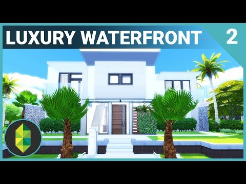 Luxury WATERFRONT Home (Part 2) | The Sims 4 House Building