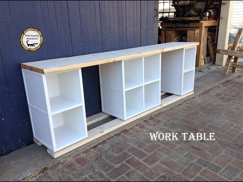 Woodworking : Storage Art Desk // How-to Part 1