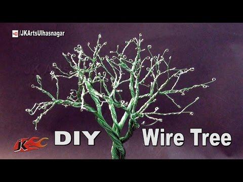 DIY Wire Tree Tutorial | How to make | JK Arts 1017