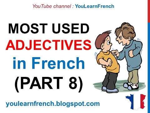 French Lesson 248 - 100 Most common ADJECTIVES in French PART 8 Most used descriptive adjectives