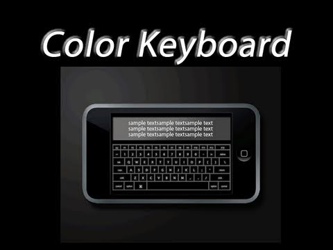 How To get Color Keyboard & Customize/Theme iPhone & iPod's Keyboard iOS 4.0+