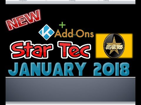 How to Install Star Tec Addon for 17.6 Kodi - Updated January 2018