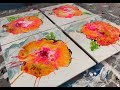 Acrylic Pour Painting: Fun With Four Flowers