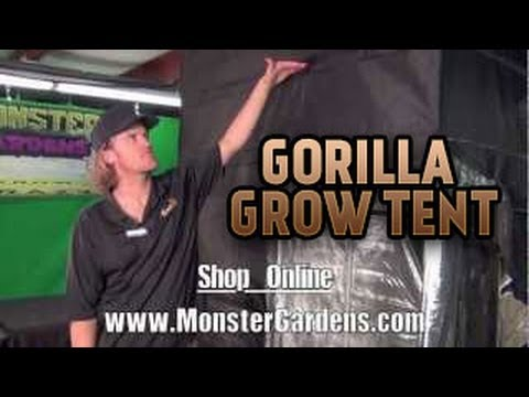 Gorilla Grow Tent Best Quality Light Tight Tallest Grow Tent Thickest Fabric Strongest Grow Tents