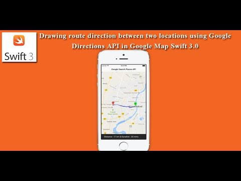 Drawing route direction between two locations using Google Map Swift 3.0