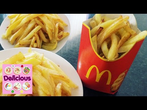 Homemade French Fries McDonalds Recipe - How to make mcdonalds french fries - Delicious