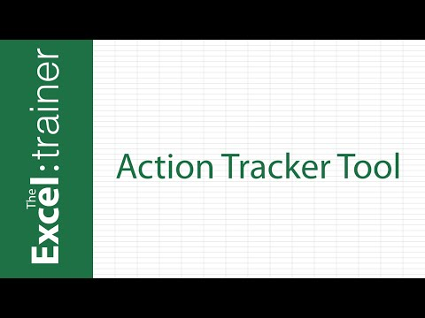 Excel-Based Action Tracker Tool