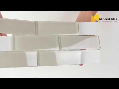 Glass Subway Tile White Moderne 2x6 - 120ANAELEMMIS26