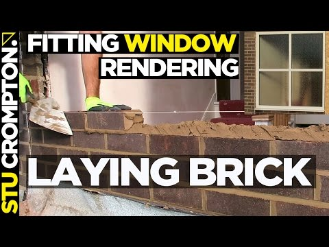 Fitting a window, laying brick and rendering part1