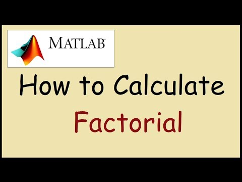 How to find the factorial of a number in Matlab