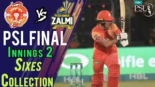 Islamabad United  Sixes | Peshawar Zalmi Vs Islamabad United  | Final | 25 March | HBL PSL 2018