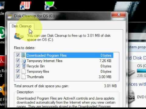 Windows disk clean up