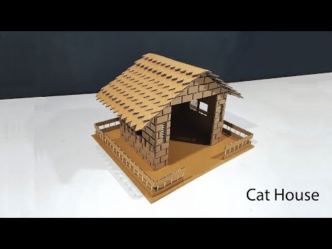 How to make Cat House From Cardboard Easy DIY