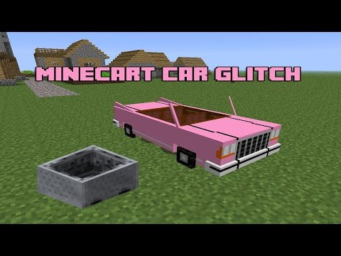Minecraft: PE - The Minecart Car Glitch (1.2.9/Make a Minecart More Like a Car)