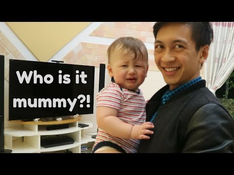 BABY SEEING DAD FOR FIRST TIME (in 3 months) Family Vlog #2