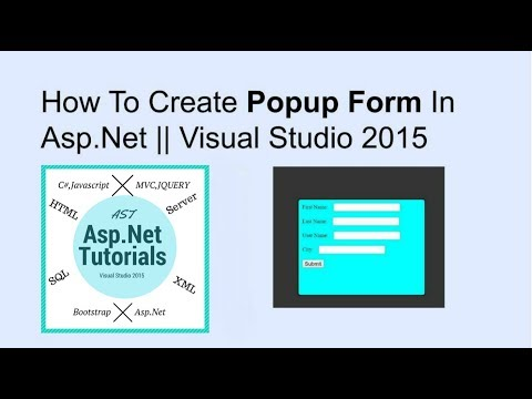 How to create pop up form in asp.net || vs2015
