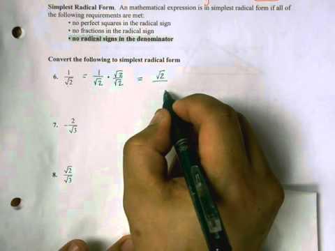 7 4 Simplest Radical Form