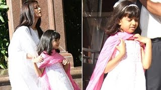Aishwarya Rai spotted with daughter Aaradhya at Father