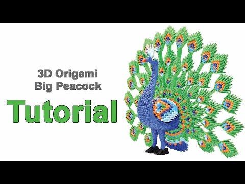 Origami 3d Big Peacock Tutorial 1/32