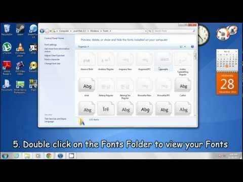 Locate Fonts folder on Windows 7