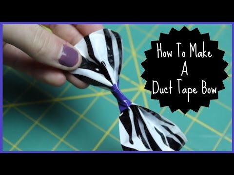 HOW TO MAKE A DUCT TAPE BOW | Allie Young