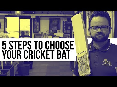 5 Steps to Choose Your Cricket Bat