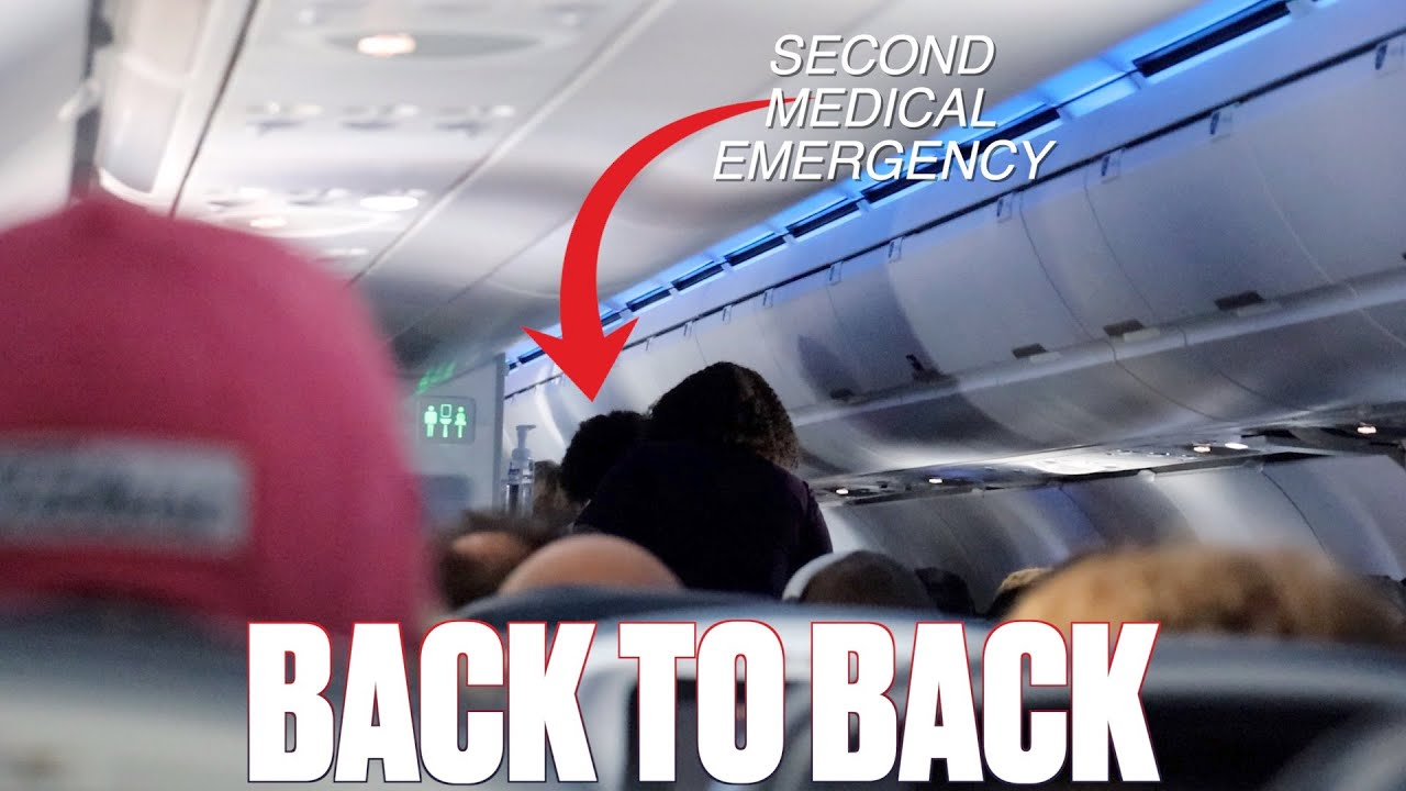 TWO MEDICAL EMERGENCIES ON TWO SEPARATE FLIGHTS ON THE SAME DAY BACK TO BACK | FLYING WITH KIDS