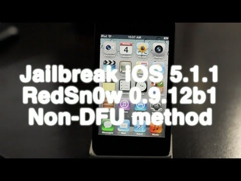 How to jailbreak iOS 5.1.1 untethered w/ RedSn0w 0.9.12b1 (NO DFU MODE)