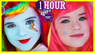 1 HOUR My Little Pony Makeup Tutorials & Play Doh! Rainbow Dash Equestria Girl Doll | Kittiesmama