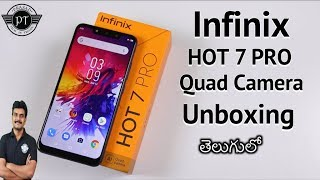 Infinix Hot 7 Pro Unboxing & initial impressions ll in Telugu ll