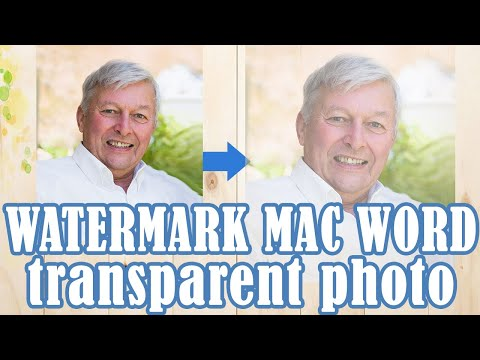 How to Create a Watermark or Transparent Photo in Microsoft Word 2003