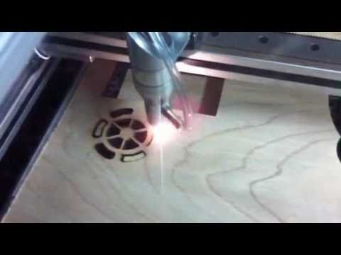 Cutting 5mm ply with 60w CNC homemade CO2 laser