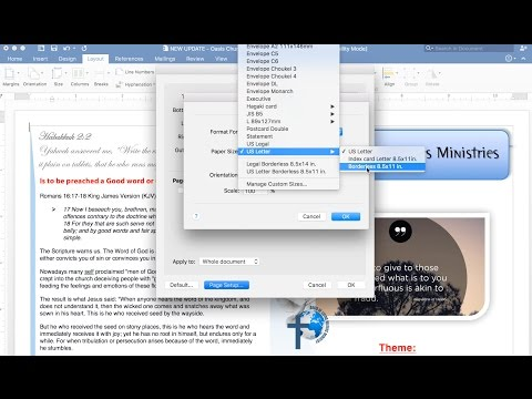 Tutorial: How to print Borderless with Office Mac 2016?