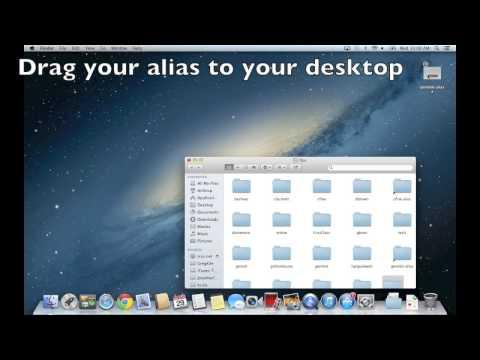 How to Make an Alias for Your Home Folder