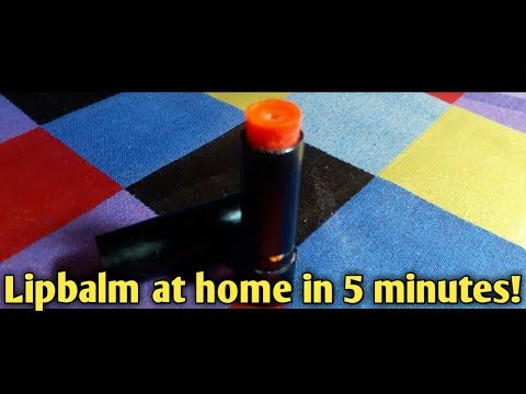 How to make a tinted lipbalm in 5 mintues at home | Hindi | Daily pro fashion