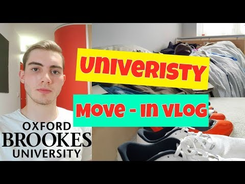 University Moving in Vlog!|Oxford Brookes