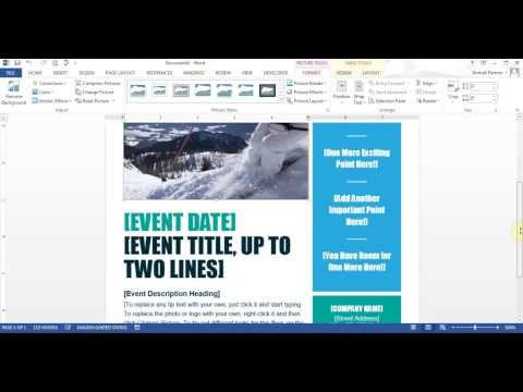 Microsoft Word - Create Flyer