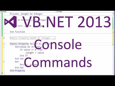 VB.NET 2013 - Console Commands