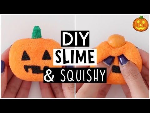 MINI SLIME & SQUISHY! I Try Making Pumpkin Spice Slime!