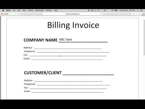 How to Make a Billing Invoice   Excel   PDF   Word