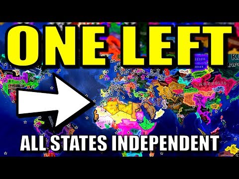 All States Independent Until 1 Country Left!   Hearts of Iron 4 [HOI4 Battle Royale Mod]