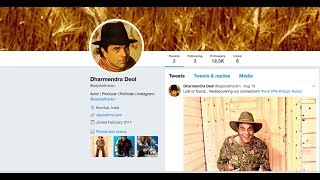 Dharmendra Debuts on Twitter, Sunny Deol Welcomes Him On Board | DAINIK SAVERA