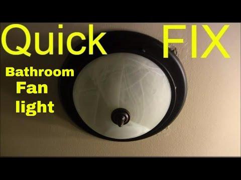 how to change bathroom fan light