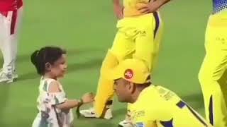 MS DHONI and ZIVA || Lovely WhatsApp Status Video |