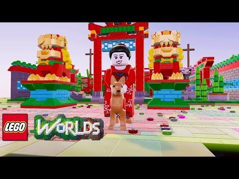 LEGO Worlds Chinese New Year Dog Shrine Brick Build Showcase