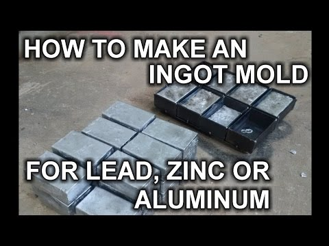 How to Make a DIY Ingot Mold for Aluminum, Lead or Zinc Casting