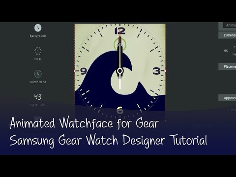 Gear Watch Designer | Smart Watch Face Tutorial