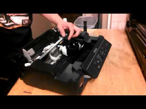 Print Head REMOVAL - Epson XP-320 and XP-310 - Fixing Clogged Heads ***WARNING***