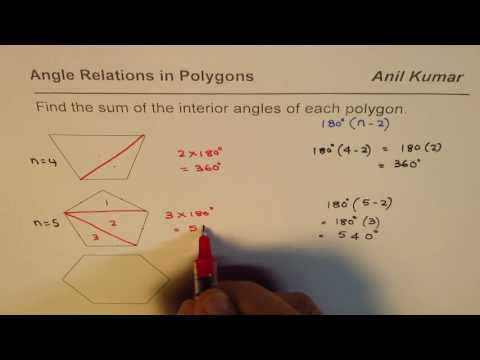 How to Calculate Sum of Interior Angles for any Convex Polygon